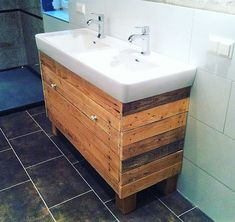 wooden pallet basin idea
