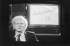 ANDY WARHOL'S TV: On MTV from 1986-1987–when the network still played music and hadn't yet been deluged by drunken roommates, celebrity abodes, and culturally-entrancing guidos–Andy Warhol hosted a five-episode-long television program called, 'Fifteen Minutes.' Interviewees included Pee-Wee Herman, John Waters, Robin Leach, Kevin Dillon, Courtney Love, William Burroughs, and a number of key members of both the fashion (Marc Jacobs) and music (The Ramones) worlds.