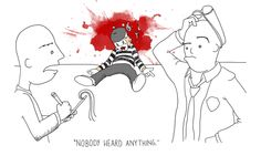 Nobody heard anything. #comics #mimes #suicide #drawing