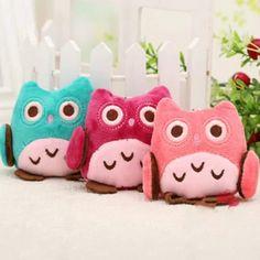 Kawaii Cute Cartoon Owl Doll Pendant Toys 8cm Plush Stuffed Animals Wedding Gift Pendant Toys Fast Shipping 3 Colors Random //Price: $US $1.12 & FREE Shipping //     #toyz24
