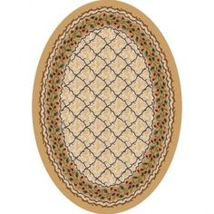 Milliken Signature Carved Wildberry Jam Light Topaz Oval Rug - 4490C/2400