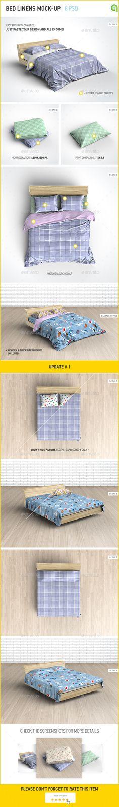 Bed Linens Mock-Up / Bedding Set Template Download her: https://graphicriver.net/item/bed-linens-mockup-bedding-set-template/9774753?ref=KlitVogli