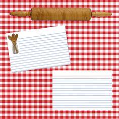 Recipe scrapbook layout