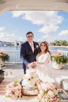 Bridget & Cody celebrated their marriage when cake & champagne at Sea Breeze Point at their Disney Wedding! Wedding Cake Prices, Wedding Cakes, Mad Hatter Wedding, Disney Fine Art, Party Desserts, Home Wedding, Epcot, Fine Art Photography, Breeze