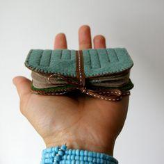 Wool Felt Needle Book // Tree Hugger // LoftFullOfGoodies