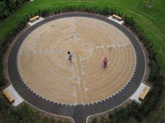 Labyrinths have recently found resurgence in popular culture, many of which are built in public gardens. Labyrinth at George Square Gardens, Edinburgh. Photo by Di Williams.