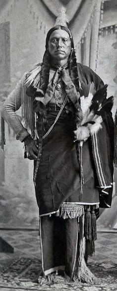 Quanah (aka Fragrance, aka Quanah Parker) the son of Tahconneahpeah (aka Peta Nocona) and Nadua (aka Someone Found, aka Cynthia Ann Parker) - Comanche/EuroAmerican - before his death in 1911