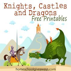 Knights, Castles and Dragons FREE Printables!