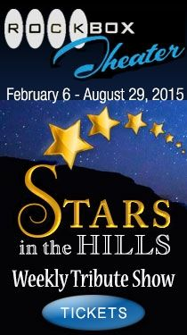 """Rock Box Theater - Stars In The Hills Tribute Show at Rockbox Theater in Historic Fredericksburg - The Texas Hill Country is in for a real treat! """"Stars in the Hills"""" is brought to you by nationally acclaimed Tribute Artists, and the amazing Rockbox Cast and Music Ansemble! You WILL have STARS in your eyes and a song in your heart! Here's a sampling of the STARS our Tribute Artists will portray - George Strait, Marilyn Monroe, Barry White, Nat King Cole, Gloria Estefan, Aretha Franklin, Rod…"""