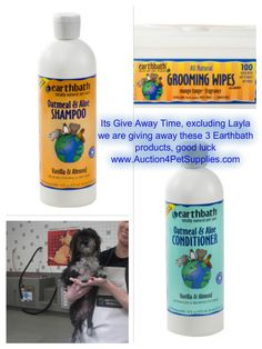 We have got together with earthbath and are having a giveaway for a shampoo, conditioner and wipes so you can pamper your dog with their fabulous products. To enter, all you have to do and its easy, is go to the Auction4PetSupplies Facebook page, and enter with the Rafflecopter App.