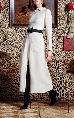 Jacquard Silk Wool Dress  by REBECCA DE RAVENEL for Preorder on Moda Operandi