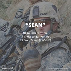 """Sean"" WOD - 10 Rounds For Time: 11 Chest-to-Bar Pull-Ups; 22 Front Squat (75/55 lb)"