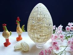 Uovo di Pasqua effetto traforato