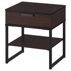 IKEA - TRYSIL, Nightstand, dark brown, black, Coordinates with other furniture in the TRYSIL series. Black Bedroom Furniture, Ikea Bedroom, Furniture Layout, Table Furniture, Furniture Sets, Kitchen Furniture, Furniture Online, Furniture Stores, Office Furniture