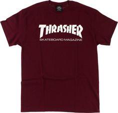 90de8d90e712 Thrasher Skate Mag Ss M-Maroon Wht. Thrasher TshirtThrasher SkateThrasher  OutfitMaroon ...