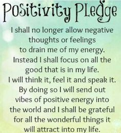 Positivity pledge