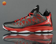competitive price cdd34 e97bf Chaussures CP3 Chaussures 2013 535807 003 Jordan CP3.VI Noir Blanc Gym Rouge