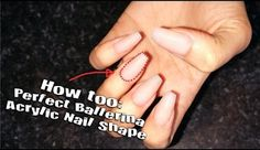 How To Ballerina or Coffin Nail Shape ( acrylic nail shapes )  Acrylic Nails