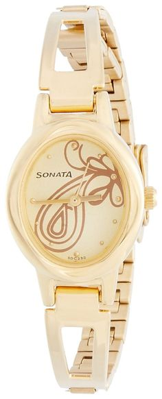 Check out our New Product  Sonata Women's Watch - 8085YM01 COD Sonata Everyday Analog Watch - For Women-8085YM01, a gold strap watch with oval dial shape and Stainless steel back case.  Rs.1,258