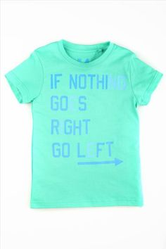 mike ss tee LAGOON GREEN/GOES RIGHT
