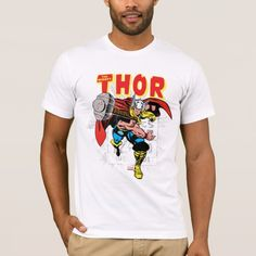 Thor Retro Comic Price Graphic T-Shirt -  Check out this vintage comic book art of Thor throwing his hammer, overlaid atop the retro comic book price info... #custom #beach themed #gift #shirt design by #marvelclassics - #shirt #thor #retrothor #vintagethor #thorhammer #thorcomic #marvel #marvelclassics #marvelcomics #marvelcomicsretro #drawing