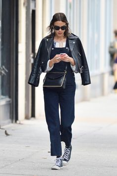 Alexa Chung Out and About in New York on Sunday 7, June 2015