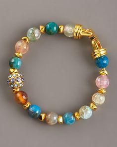 Multicolor Agate Bracelet, Small by Jose & Maria Barrera at Neiman Marcus.