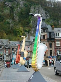 "Dinant, Belgium: Belgium's Saxophone Town. I think I""m going to live here one day..."