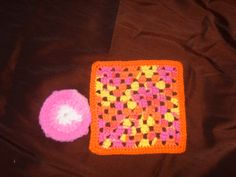 Crocheted washcloth and pot scrubber