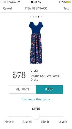 Gilli Ryland Knit 2fer Maxi Dress. I love Stitch Fix! A personalized styling service and it's amazing!! Simply fill out a style profile with sizing and preferences. Then your very own stylist selects 5 pieces to send to you to try out at home. Keep what you love and return what you don't. Only a $20 fee which is also applied to anything you keep. Plus, if you keep all 5 pieces you get 25% off! Free shipping both ways. Schedule your first fix using the link below! #stitchfix @stitchfix…