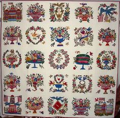 Lovely reproduction of the Mary Simon quilt.