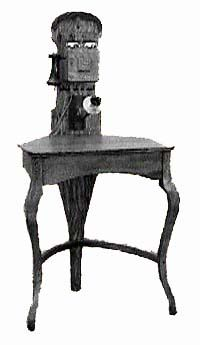 early phones were often built into elaborate tables