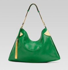 SO nice I have to pin it twice! Gucci 1970 in green leather..