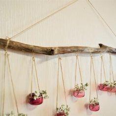 Mason jar wall decor driftwood wall art hanging vase | Etsy