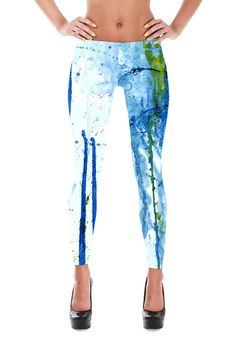 Jellyfish watercolor fashion leggings