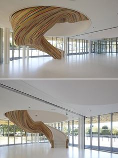 "Designed by: Tetrarc <a class=""g1-link g1-link-more"" href=""http://www.stylisheve.com/22-very-unique-staircases-that-will-inspire-you/contemporary-staircases-5/"">More</a>"