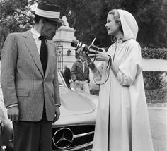 """a fun gallery of """"old Hollywood"""" - this one is of Frank Sinatra and Grace Kelly"""
