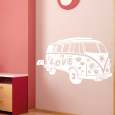 Muursticker Love Bus » Muurstickers Auto