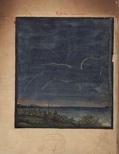 Comet Sketches, fromThe Comet Book (Kometenbuch), 1587.