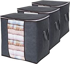 Lifewit Clothes Storage Bag Large Capacity Organizer with Reinforced Handle Thick Fabric for Comforters, Blankets. Underbed Storage Bags, Storage Trunk, Under Bed Storage, Bag Storage, Storage Bags For Clothes, Clothing Storage, Linen Closet Organization, Closet Storage, Storage Organization