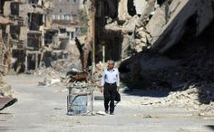 Bombed out street in Syria