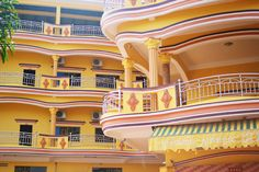 French colonial architecture in Kampot Cambodia