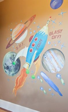 Cute Outer Space Bedding, Bedroom Wall Decor - Best Decorations with Outer Space Room for Kids