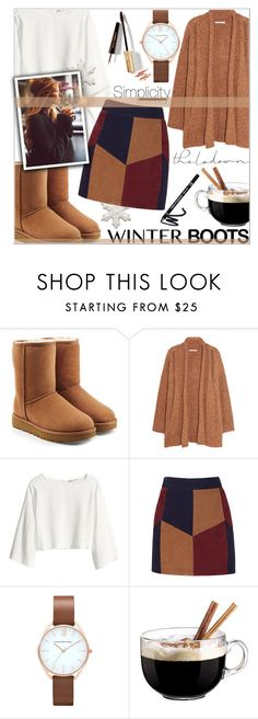 """""""Comfy boots"""" by kawtar-el ❤ liked on Polyvore featuring UGG, Rebecca Minkoff, H&M, LaMarque, Luminarc and Dolce&Gabbana"""