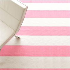 Super affordable Wide Stripe Flat Weave Rug: 5 Colors
