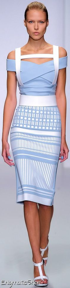 David Koma Spring 2014 dress @roressclothes closet ideas #women fashion outfit #clothing style apparel