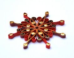 Christmas decoration, Eco-friendly, quilled by: VBPureDesigns-Etsy