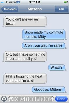 Texts from Mittens - NEW Daily Texts from Mittens: The Commute Edition ...