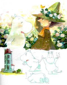Snufkin and Moomin Moomin Valley, Kawaii, Tove Jansson, Bullet Journal Art, Cool Paintings, Comic, Art Sketches, Anime, Illustration Art