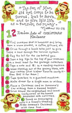 12 christmas acts of kindness great for the advent calendar! Christmas Games, 12 Days Of Christmas, Christmas Activities, Before Christmas, Christmas Traditions, Christmas Holidays, Christmas Crafts, Christmas Ideas, Merry Christmas